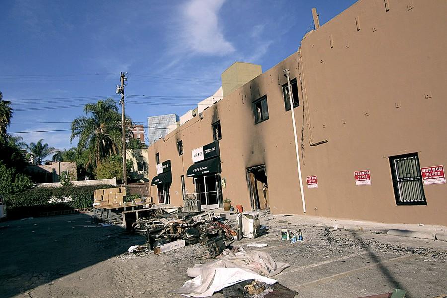 Commercial Shopping Center fire – LA